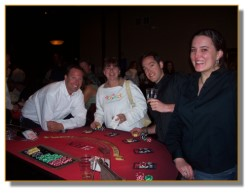 All Smiles (as usual) at the blackjack table