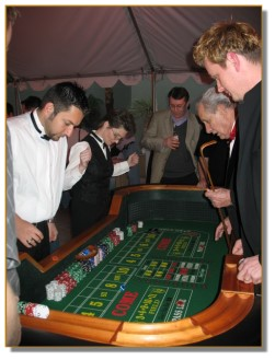 Craps table getting serious