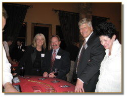 All smiles at the blackjack table