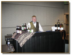 Friendly Bartender working the event bar